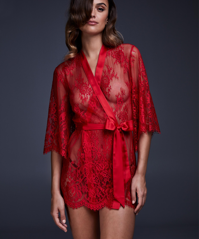 Lace Isabelle kimono, rød, main