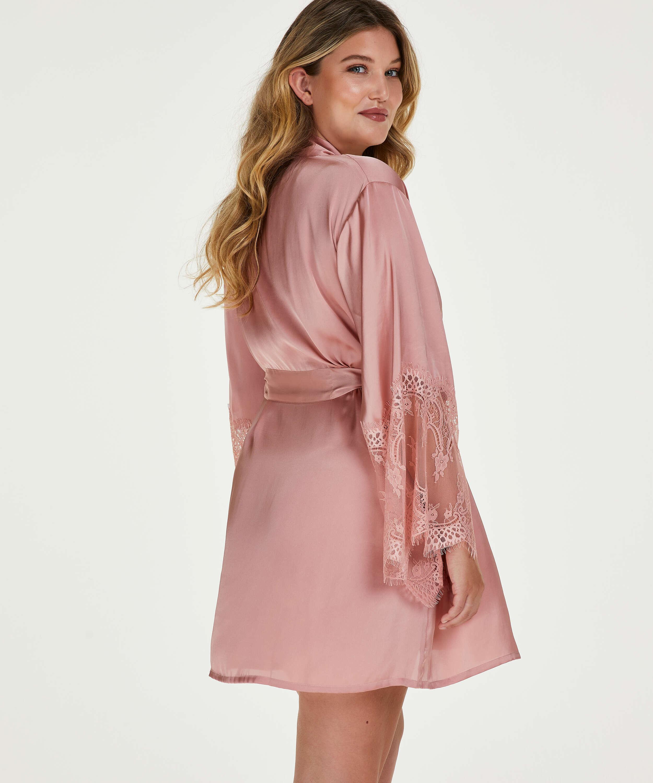 Satin kimono, pink, main