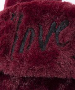 Love Fake Fur Lady hjemmesko, rød