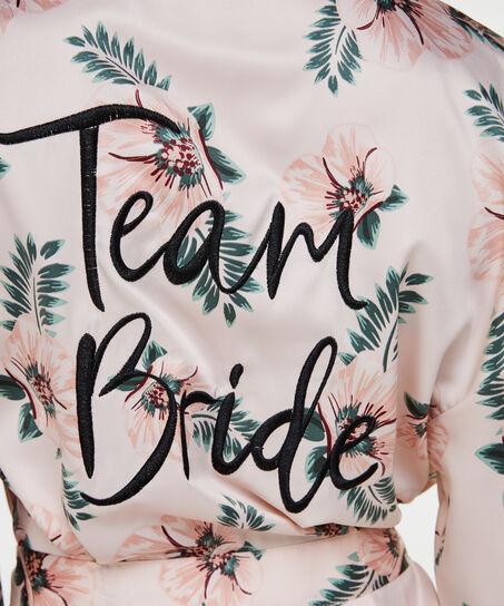 Satin kimono Bridal, pink