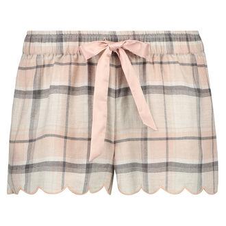 Twill Check pyjamasshorts, pink