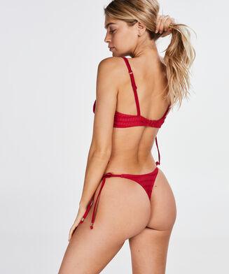 Tied Down bikinitrusse med g-streng, rød