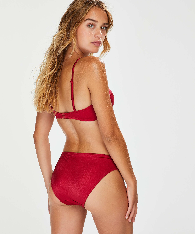 Formstøbt push-up bøjle-bikinitop Lola, rød, main