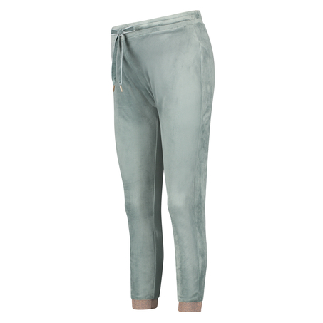 Lurex Joggingbukser i velour, grøn