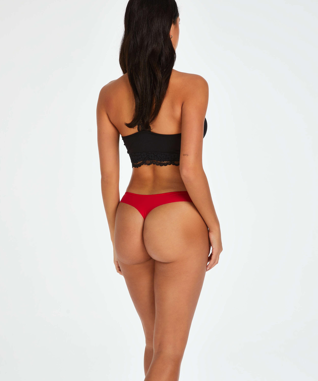 Stripe Mesh usynlig brasiliansk trusse, rød, main