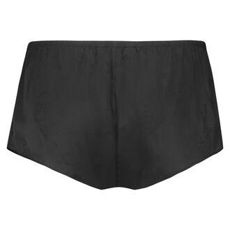 Pyjamas-shorts i satin, sort
