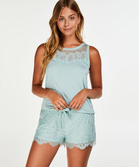 Lace shorts, blå