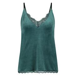 Velours Lace cami, grøn