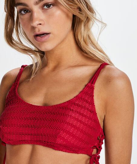 Tied Down bikini-croptop, rød