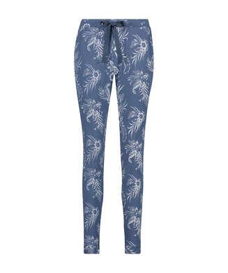 Pyjamasbukser Indigo Floral, blå