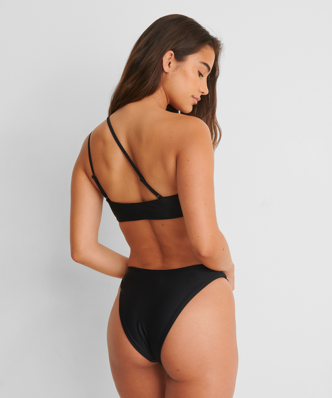Højt udskåret rio-bikinitrusse HKM x NA-KD, sort, main