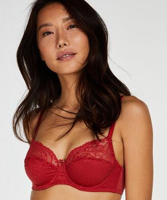 Sophie ikke-formstøbt bøjle-bh, rød