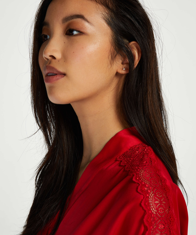 Kimono Satin, rød, main