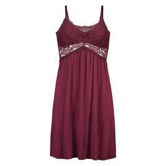 Jersey lace natkjole, rød