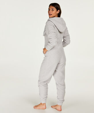 Onesie-jumpsuit Cloud Fleece, Grå