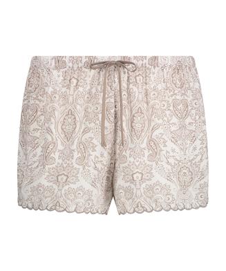 Pyjamasshorts, hvid