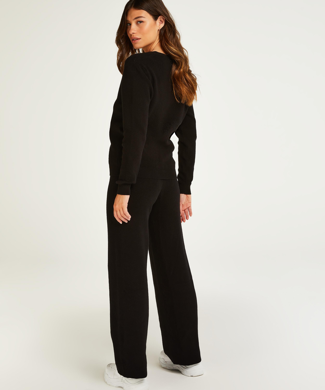 Premium Lange bukser strik, sort, main