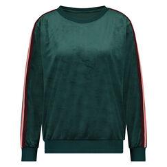 Velours Stripe top, grøn