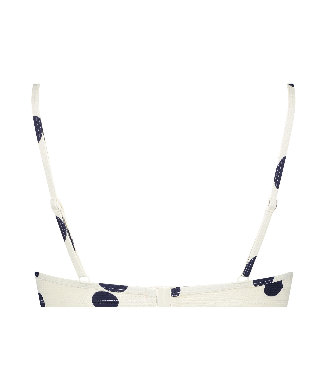 Scallop Dot formstøbt bikinitop med bøjle, hvid, main
