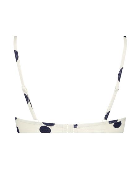 Scallop Dot formstøbt bikinitop med bøjle, hvid
