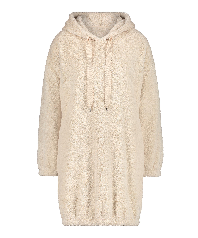 Snuggle fleece kjole, Beige, main