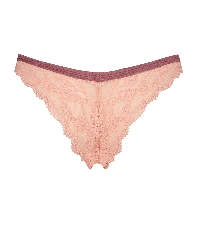 High leg brasiliansk trusse Iva, pink, main
