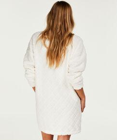 Badekåbe fleece dress, hvid
