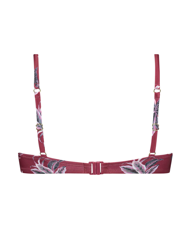 Formstøbt bøjle-bikinitop Tropic Glam, rød, main