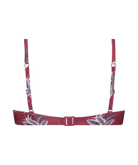 Formstøbt bøjle-bikinitop Tropic Glam, rød