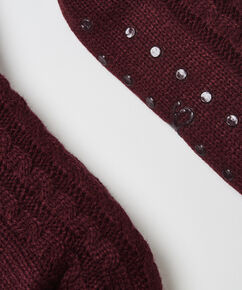 Knit Hjemmesokker, rød
