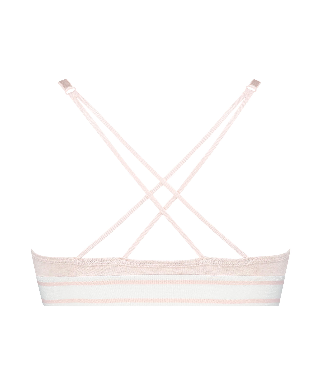 Formstøbt triangle bralette Casey bomuld, pink, main