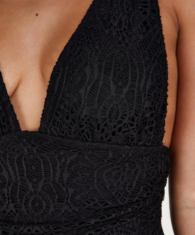 Badedragt Crochet, sort, main