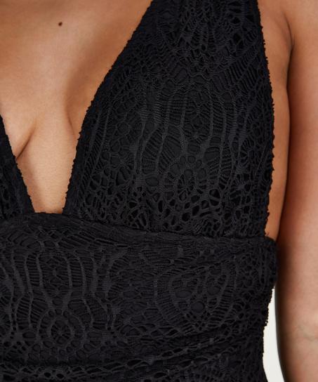 Badedragt Crochet, sort