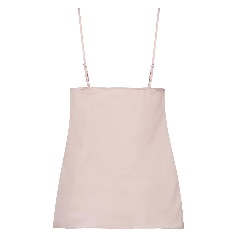 Satin top Bow, pink, main