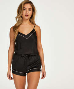 Satin Lace pyjamasshorts, sort