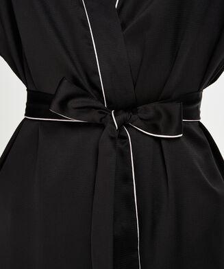 Satin kimono, sort