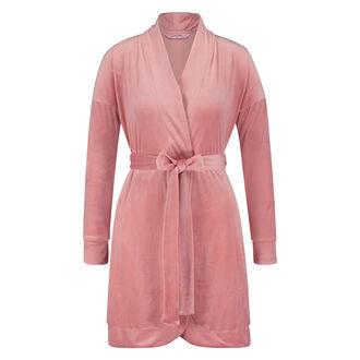 Velvet badekåbe, pink