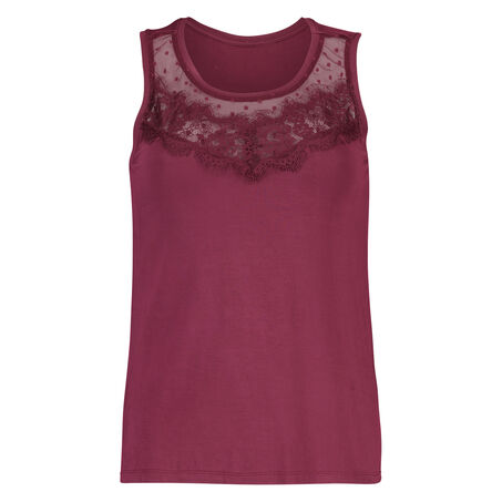 Jersey Lace top, rød