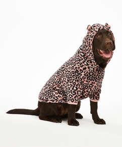 Fleece hunde-onesie, pink