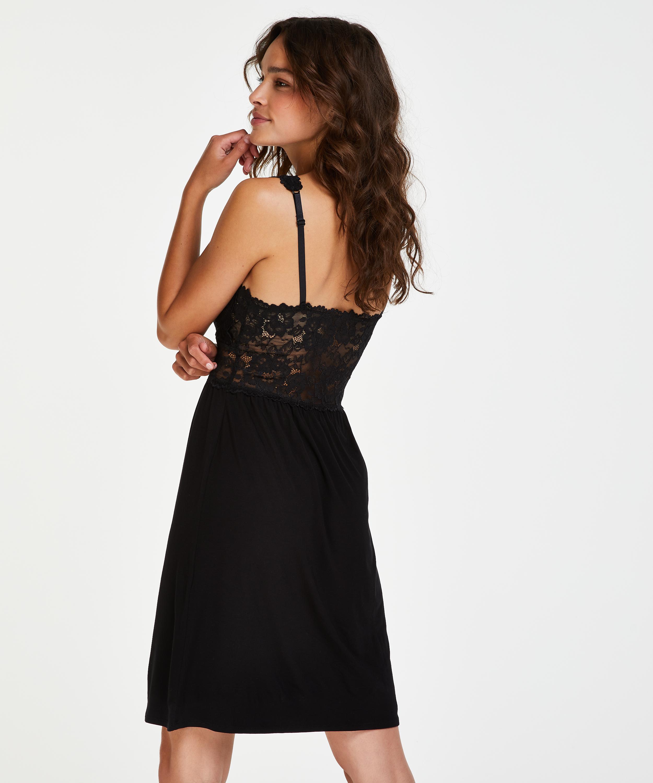 Modal Lace natkjole, sort, main