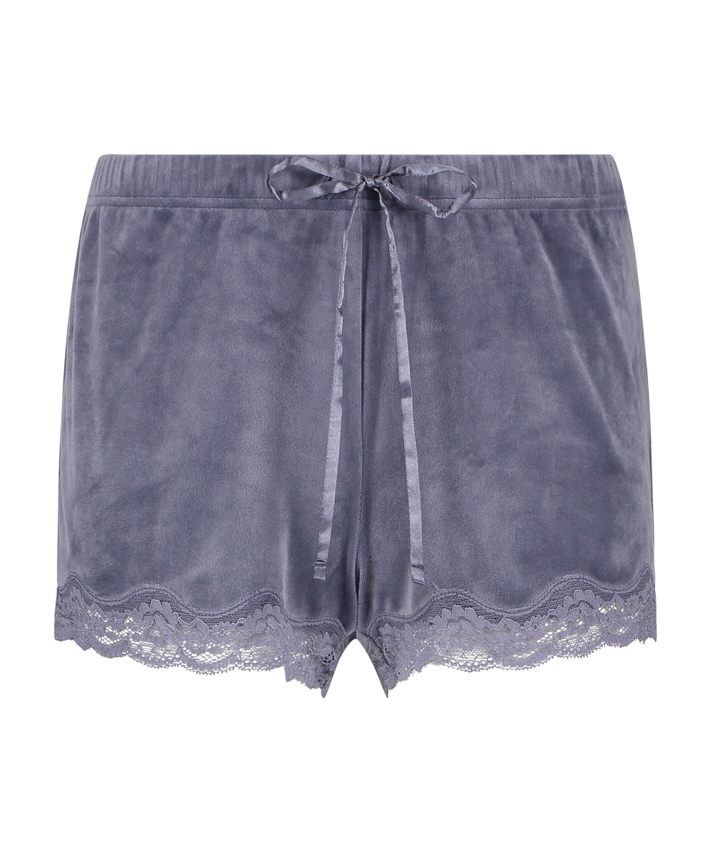 Shorts velour Lace, Grå, main