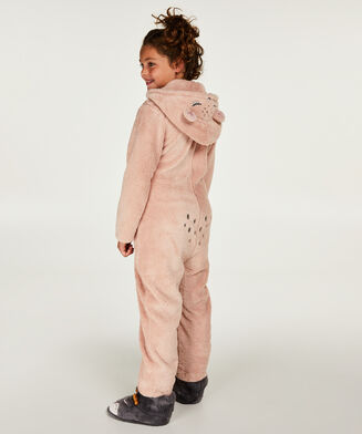 Teens Fleece Jumpsuit, Grå