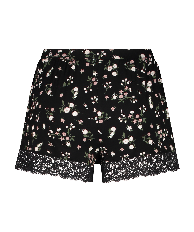 Ditzy Flower shorts, sort, main