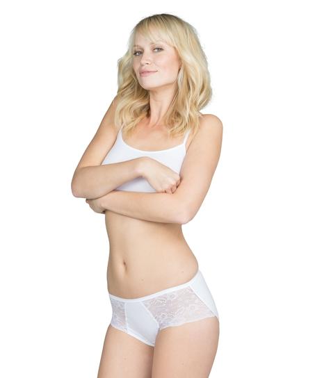 Superslip Lace Midi, hvid