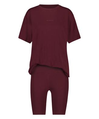 Kort pyjamassæt Biker, rød