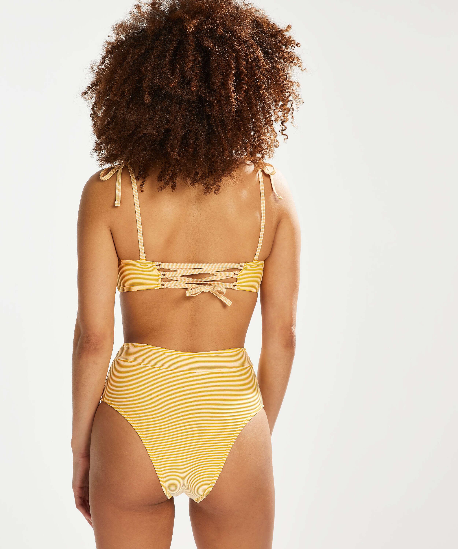 Høj fræk bikinitrusse Carmel, gul, main