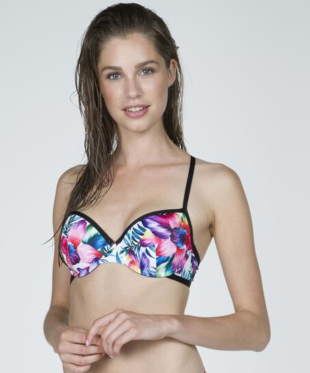 White Paradise formstøbt bøjle-bikinitop, hvid