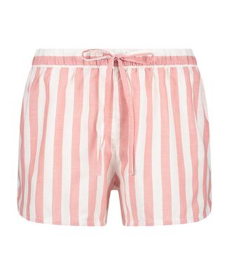 Pyjamasshorts med chambray-striber, pink