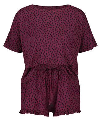 Kort pyjamassæt Dot, rød