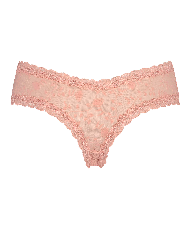 V-shape Mesh brasiliansk trusse, pink, main